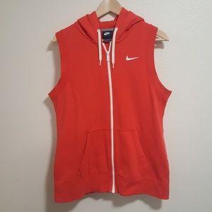 Nike zip up vest red medium